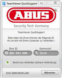 TeamViewer QuickSupport ©ABUS